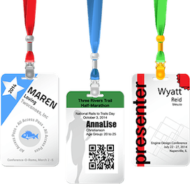 hanging badges