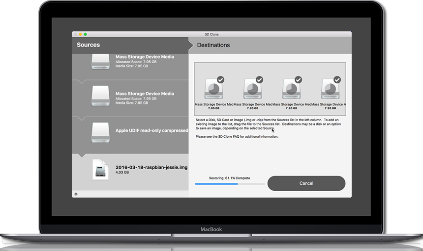 Twocanoes Software releases SD Clone 2 for SD card cloning on the Mac Image