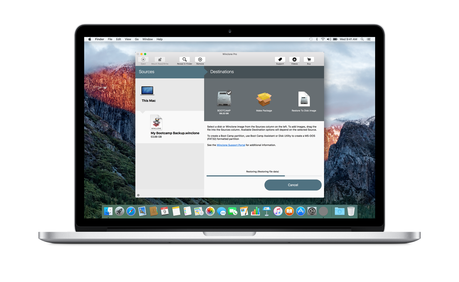 Twocanoes Software announces that Winclone 6 is High Sierra Ready Image
