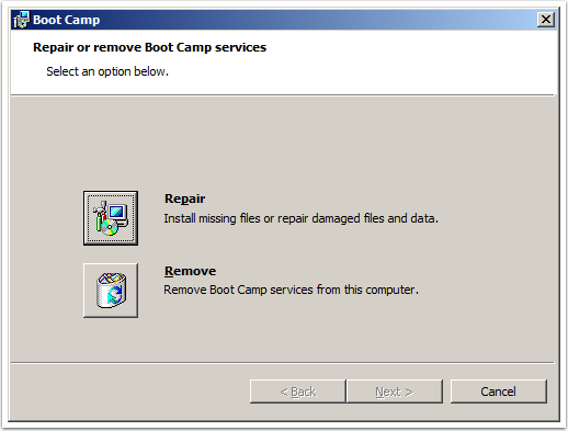 Uninstall boot camp services windows xp check software updates windows xp
