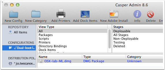 Confirm presence of OS X DMG package