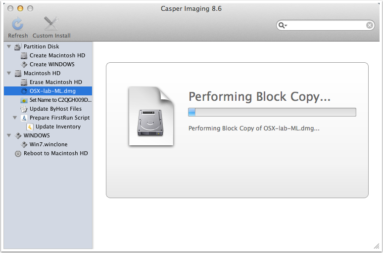 Block copying of image