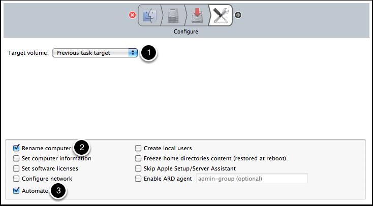 Configure the Configure task.