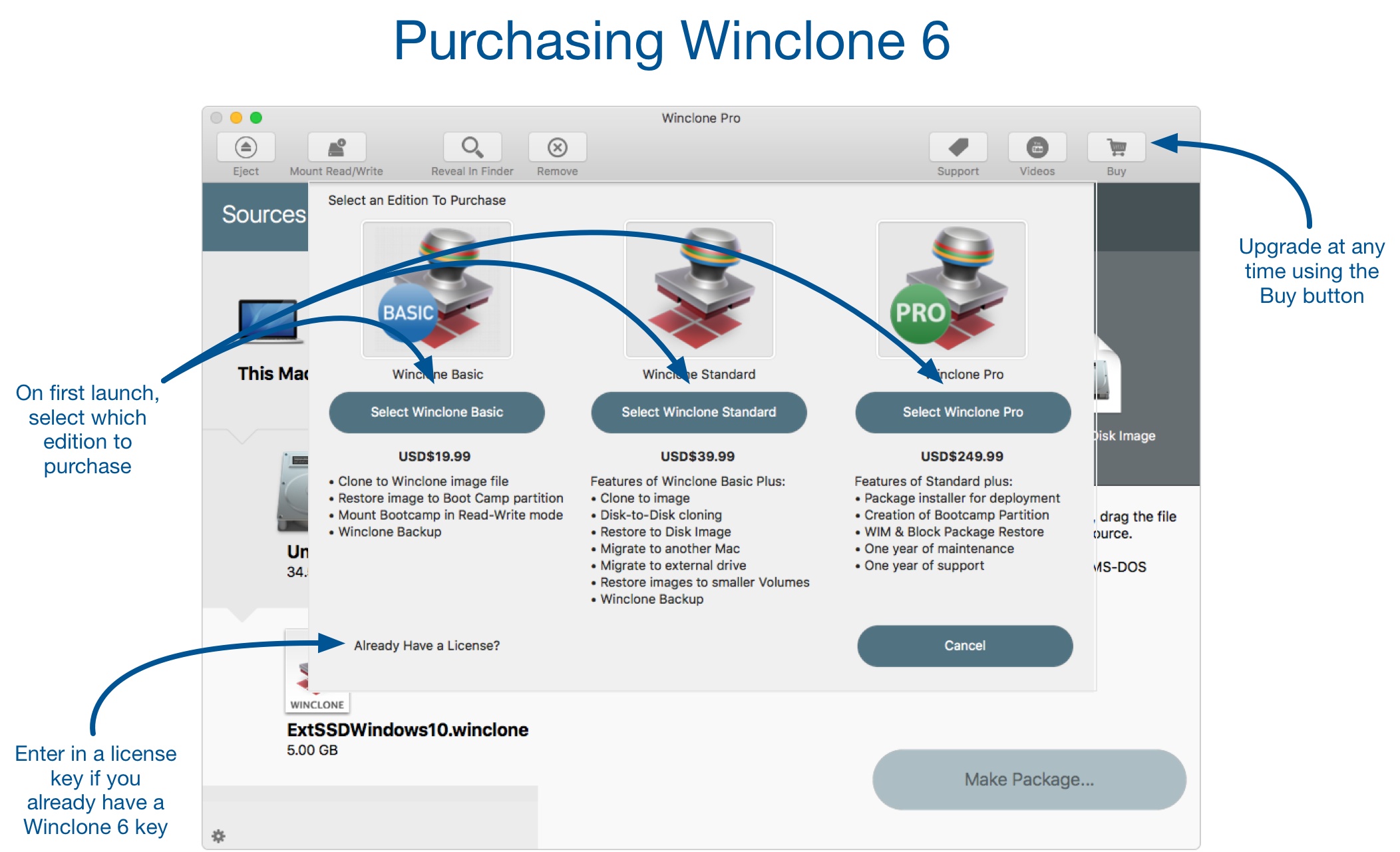 Winclone 6 In-App Purchase